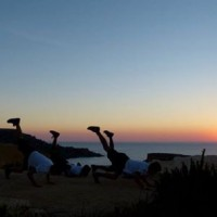 sunset with maltese dancers